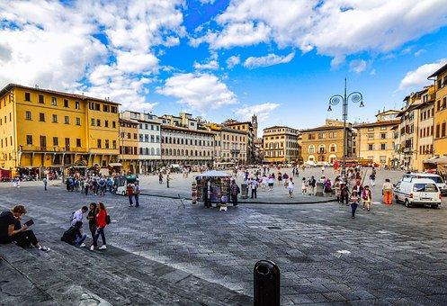 Piazza, Square, Italy, Italian, Florence, Tuscany