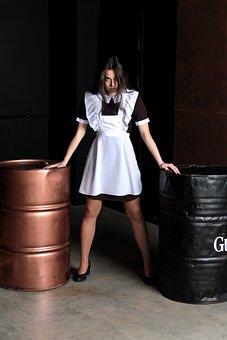 Schoolgirl, Graduate, Girl, Model, Dress, Posture