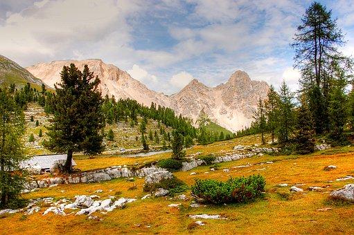 Dolomites, Fanes, Mountains, Landscape, Rock, Alpine
