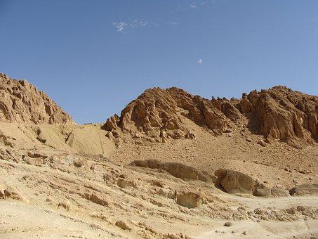 Desert, Sahara, Rock, Stone, Sand, Hot, Arid, View