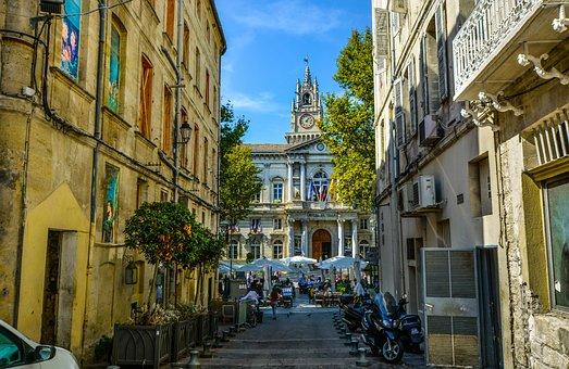 Avignon, Back, Alley, Street, Opera House, Restaurant