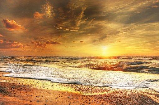 Denmark, Sun, Summer, Sea, Sunset, Nature, Sky