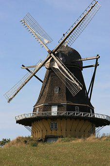 Windmill, Traditional, Mill, Landscape, Europe, Nature