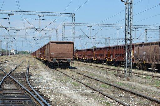 Train, Distance, Wagon, Cargo Space, Old, Macedonia
