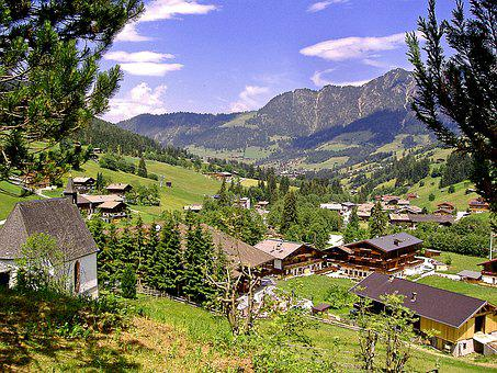 Tyrol, Alpbach Valley, Inneralpbach, Panorama, View