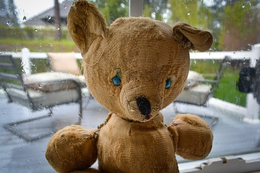 Vintage, Stuffed, Bear, Teddy, Toy, Old, Used, Worn