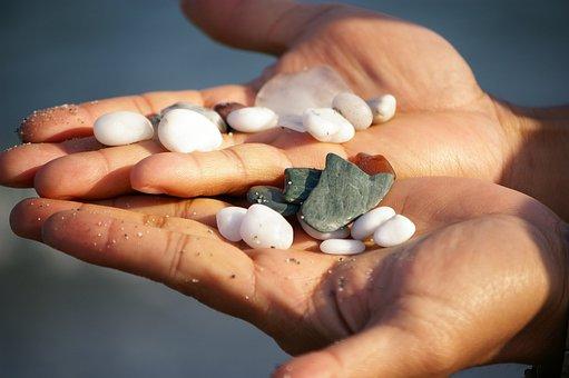 Hands, Beach, Treasure, Summer, Sea, Vacation, Travel