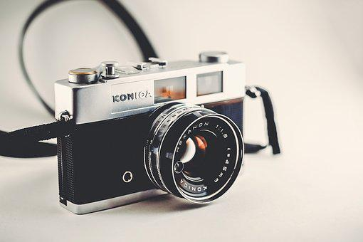Camera, Film, Photography, Equipment, Old, White