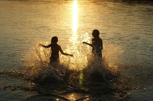 Sunset, Swim, Holiday, Mood, Holiday Feeling, Beach