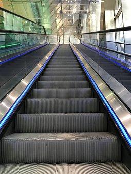 Escalator, Heaven, Metal, Stairway, Staircase