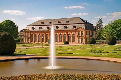 Orangery, Architecture, Fountain, Water