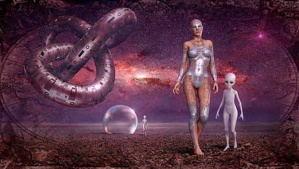 Fantasy, Space, Galaxy, Alien, Contact, Starry Sky