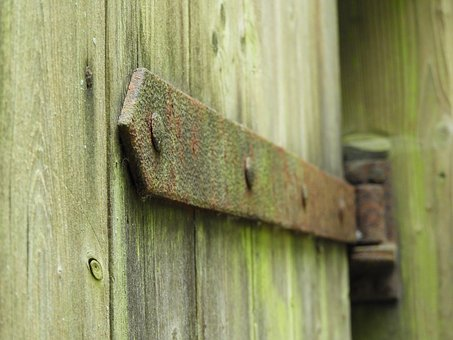 Hinge, Stainless, Old, Iron, Wood, Rusty, Weathered