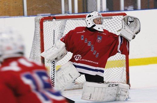 Ice Hockey, Goalkeeper, Rödtröja