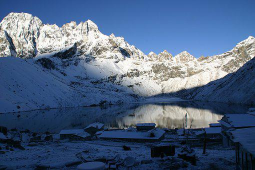 Khumbu, Trekking, Nepal, Mountains, Himalaya, Lake