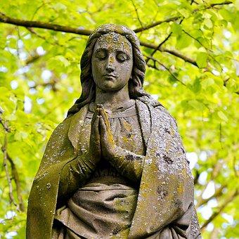 Sculpture, Maria, Believe, Statue, Christianity