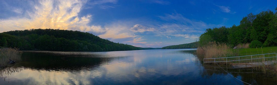 Sky, Sunset, Lake, Mountain, Water, Nature, Landscape