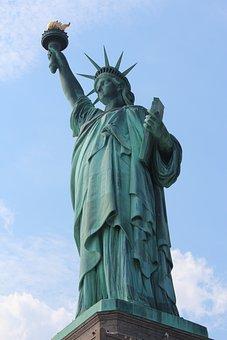 America, Statue Of Liberty, New York, Usa, Statue