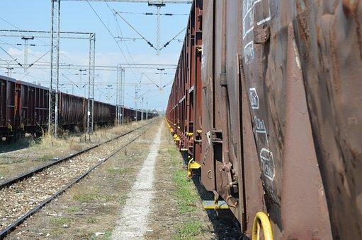 Horizon, Track, Rails, Wagons, Train Track, Railway