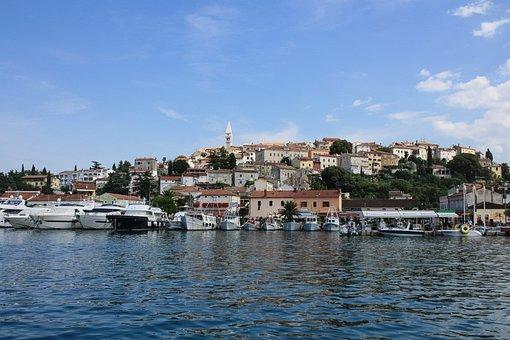 Sea, Town, House, Croatia, Travel, Tourism