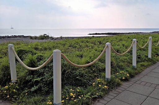 Baltic Sea, Strandweg, Sea View, Cable Barrier