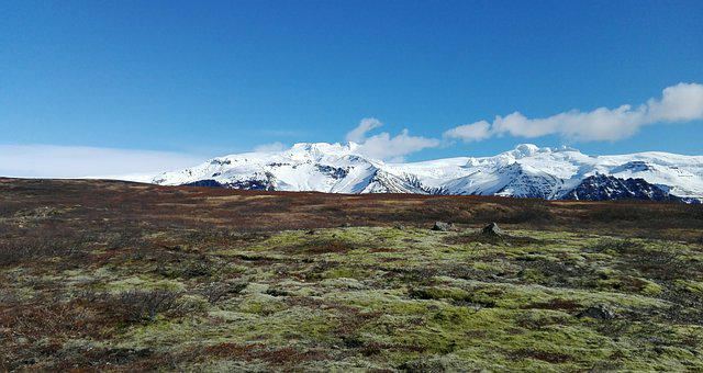 Iceland, Mountains, Trail, Contrast, Snow