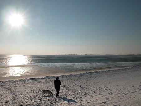 Winter, Sylt, Sea, Beach, North Sea, Sun, Germany