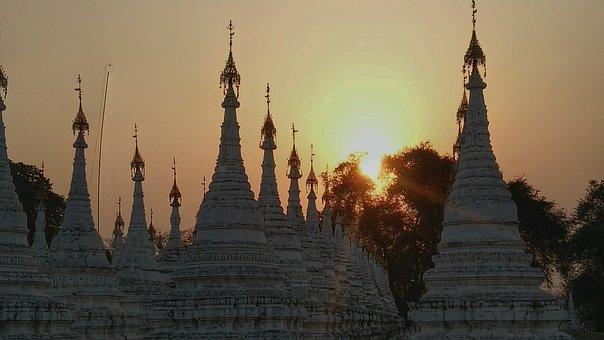 Sunset, Temple, Mandalay, Myanmar