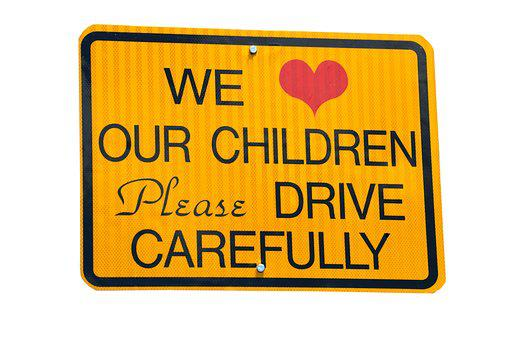 Children At Play, Sign, Signage, Warning