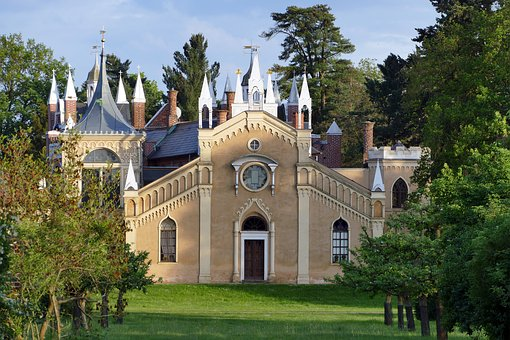 Park Wörlitz, Gothic House, Architecture, Horticulture