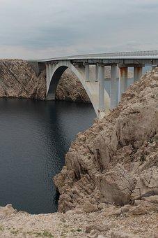 Bridge, Sea, Water, Be, Rock, Sky, Croatia