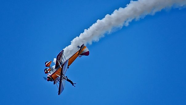 Wing Walking, Wing Walker, Bi-plane, Aerobatics, Stunt