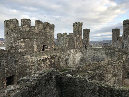 Castle, Uk, Conwy, Britain, Medieval, Europe