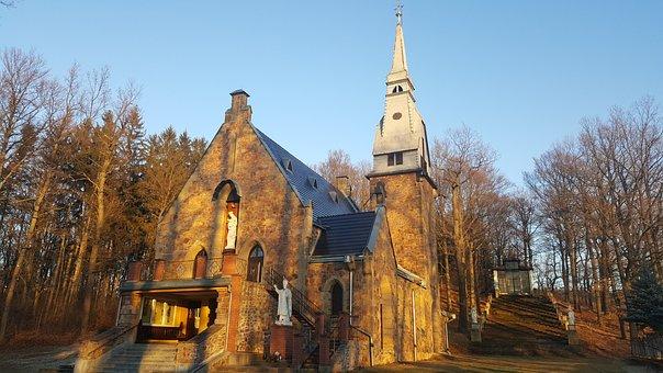 Church, Mary, Catholic, Dabrowica, Temple, Monument