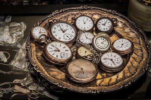 Clock, Pocket Watch, Movement, Time Of, Retro