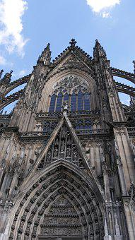 Cologne, Dom, Cologne Cathedral, Sky, Church, Window