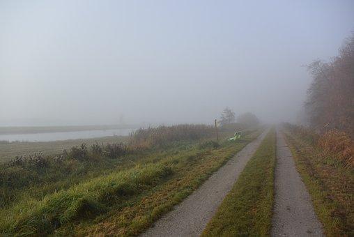 Polder, Landscape, Fog, Dutch Landscape, Pasture
