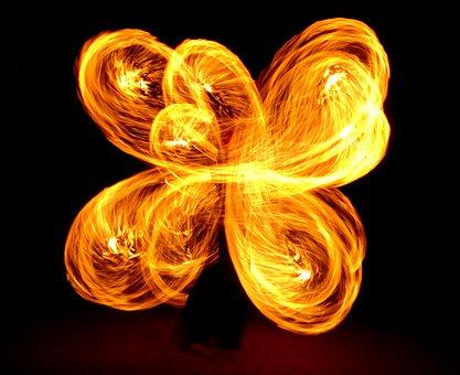 Fire, Fire Flower, Flame Flower, Flower, Juggling