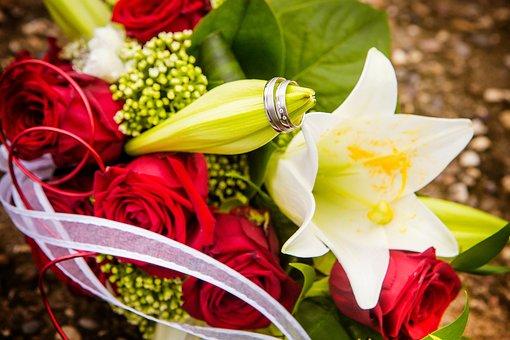 Wedding Rings, Wedding, Rings, Couple, Flowers, Marry