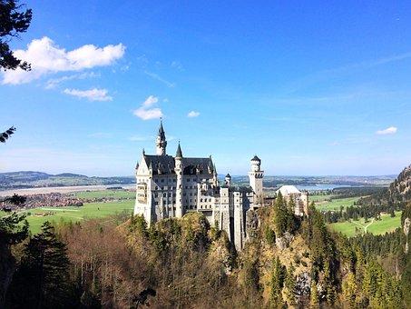 Germany, Alps, Castle, Nature, Europe, Landscape
