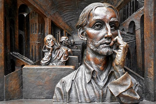 Art, Sculpture, Aged, Thought, Statue, Old, Head