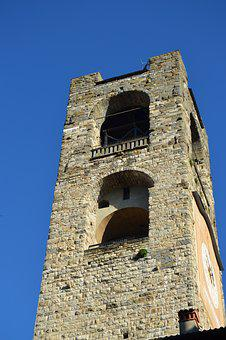 Italy, Begamo, Tower, Medieval, Middle Ages, History