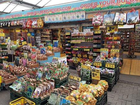 Amsterdam, Holland, City, Flowers, Market