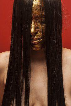 Model, Paint, Hair, Fashion Shoot, Studio, Portrait