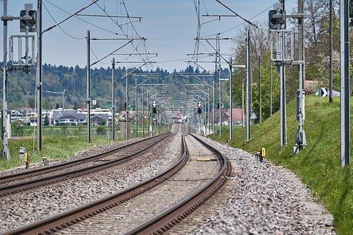 Train, Tracks, Traffic, Just, Rail, Railway Rails