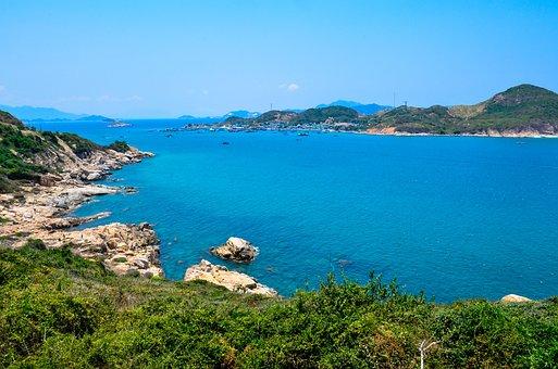The Sea, Green, Blue Sea, The Beach, Coast, Scenery