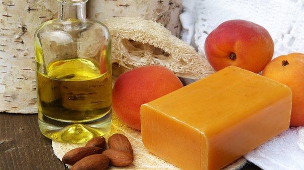 Soap, Oil, Almonds, Cores, Sponge, Apricots, Soap Piece