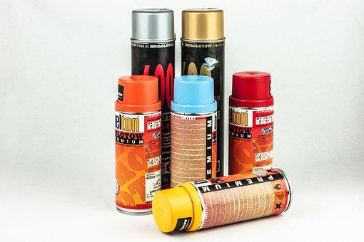 Spray Cans, Sprayer, Colorful, Grafitti, Spray