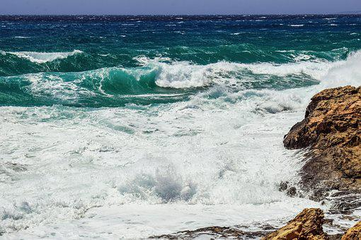 Rough Sea, Rocky Coast, Waves, Nature, Windy, Stormy