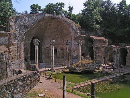 Villa Adriana, Hadrian's Villa, Tivoli, Italy, Europe
